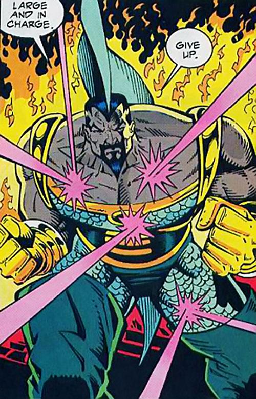 Fin (Silver Sable ally) (Marvel Comics) ignoring gunfire