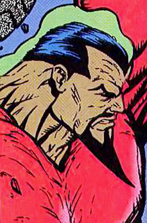 Fin (Silver Sable ally) (Marvel Comics) face closeup