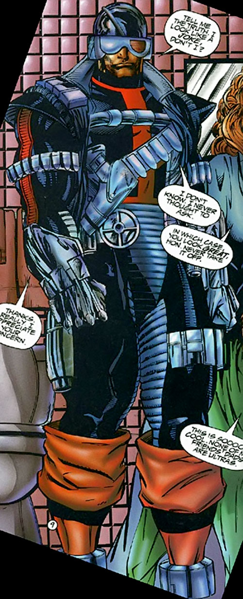 Firearm (Hitch/Lopez) (Ultraverse comics) in the black and red uniform