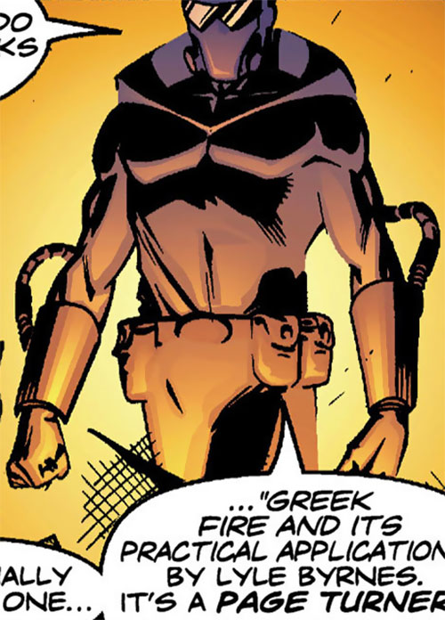 Firefist (Blue Beetle enemy) (DC Comics) modernized suit