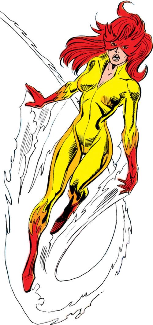 Firestar (Marvel Comics) (Avengers ; New Warriors) flying angry microwaves