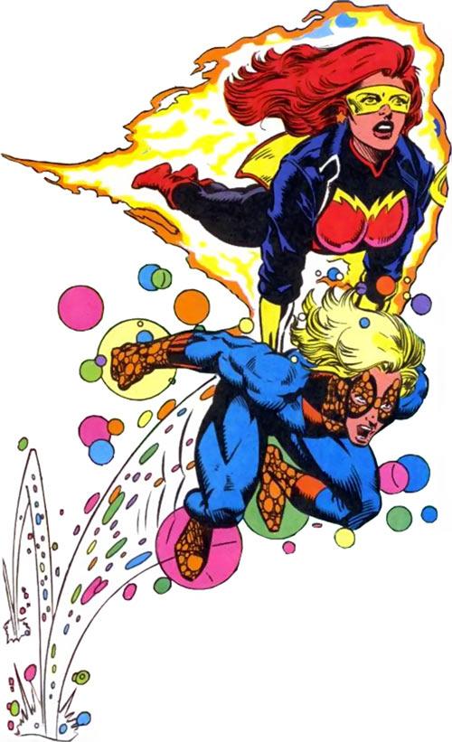 Firestar (Marvel Comics) (Avengers ; New Warriors) and Speedball
