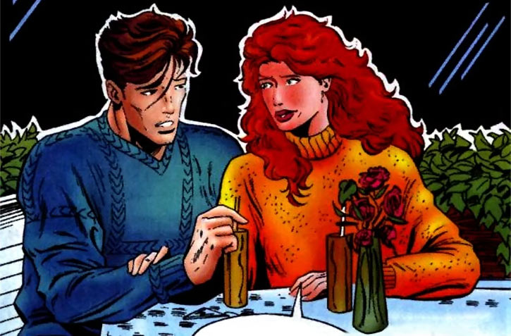 Firestar (Marvel Comics) (Avengers ; New Warriors) on a date with Vance Astro