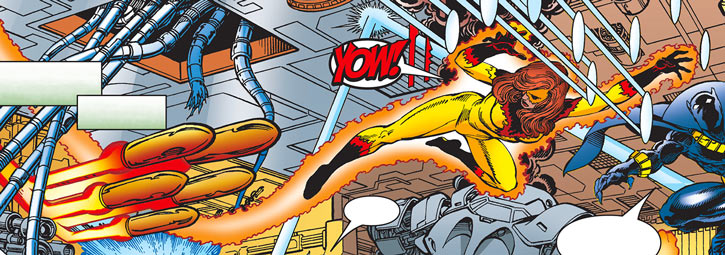 Firestar (Marvel Comics) (Avengers ; New Warriors) training with the Black Panther