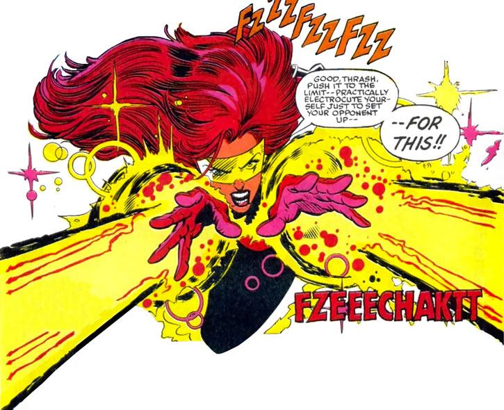 Firestar (Marvel Comics) (Avengers ; New Warriors) double blast and visor