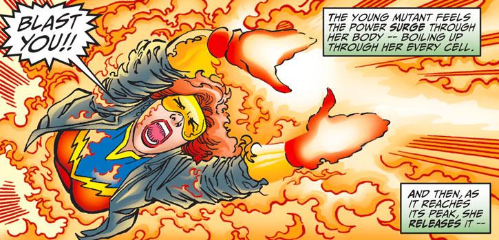 Firestar (Marvel Comics) (Avengers ; New Warriors) all-out blast