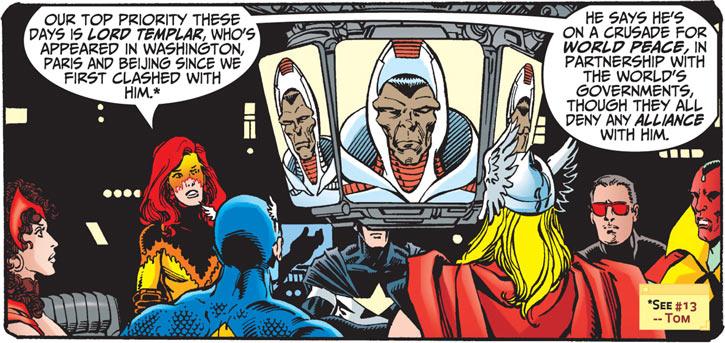 Firestar (Marvel Comics) (Avengers ; New Warriors) briefing about Lord Templar