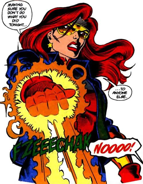 Firestar (Marvel Comics) (Avengers ; New Warriors) angry fire blast