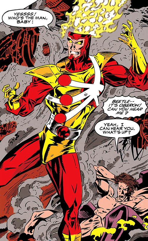 Firestorm of Extreme Justice (DC Comics) gloating