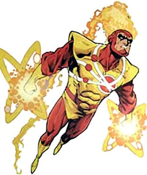 Firestorm (Stein/Raymond version) (DC Comics) in flight