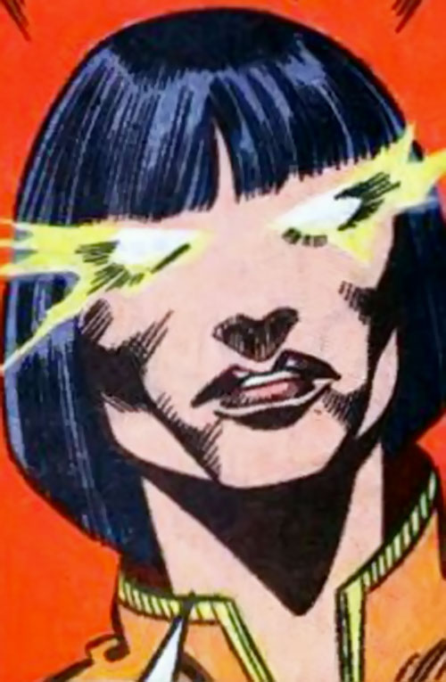 Firewall of the Force of Nature (New Warriors enemy) (Marvel Comics) face closeup