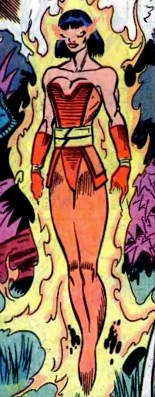 Firewall of the Force of Nature (New Warriors enemy) (Marvel Comics)