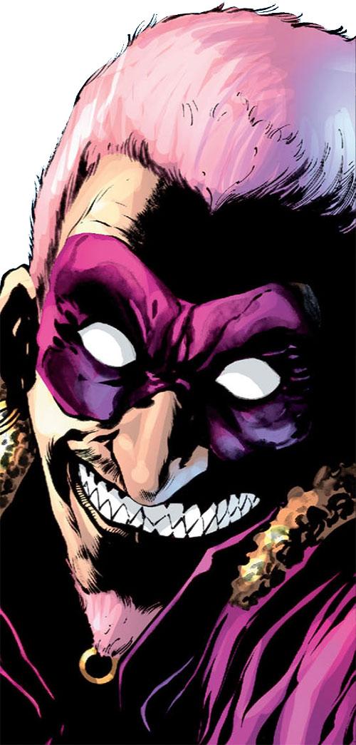 Flamingo (Batman & Robin enemy) (DC Comics) face closeup