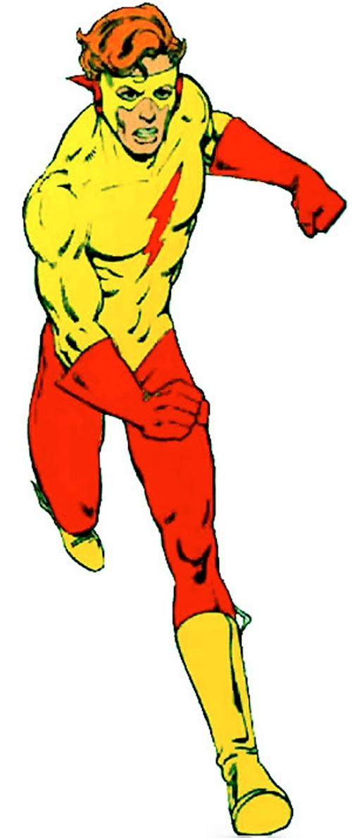 Flash (Wally West) (DC Comics) in the Kid Flash costume