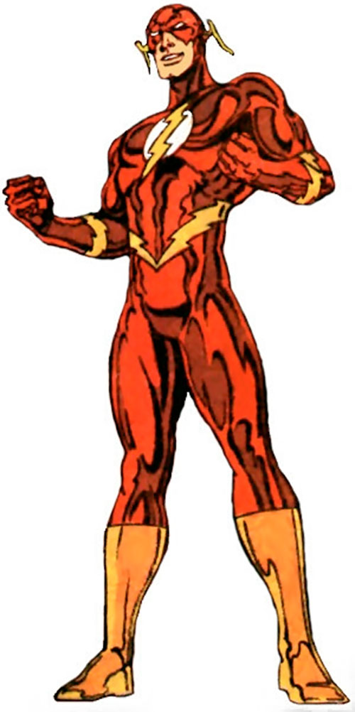 Flash (Wally West) (DC Comics) with the shiny costume