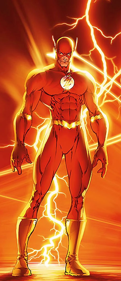 Flash (Wally West) (DC Comics) with a lightning bolt