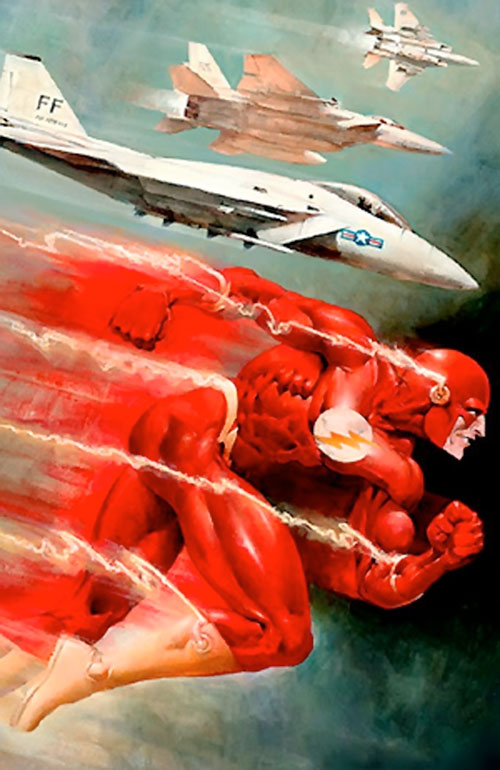 Flash (Wally West) (DC Comics) racing jet fighters
