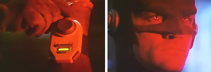 The Flash (John Wesley Shipp) using infrared lenses