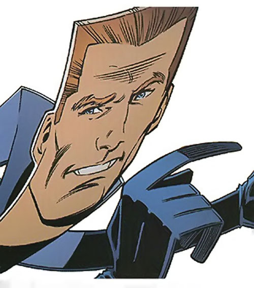 Flatman of the Great Lakes Avengers (Marvel Comics) face closeup