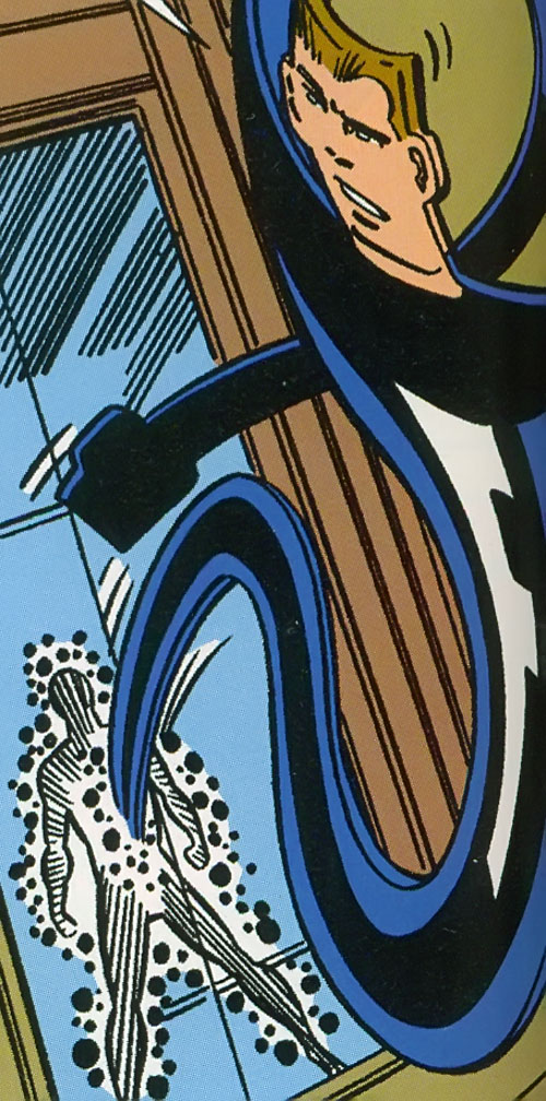 Flatman of the Great Lakes Avengers (Marvel Comics) snaking in