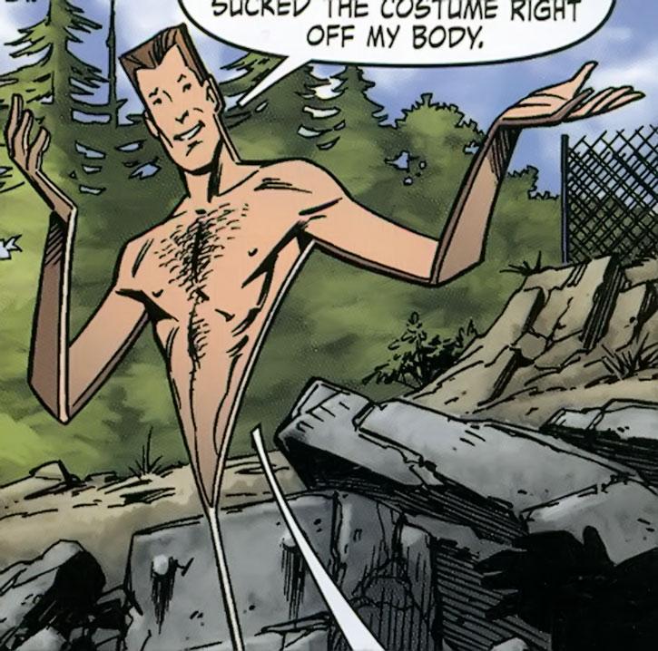 Flatman standing naked