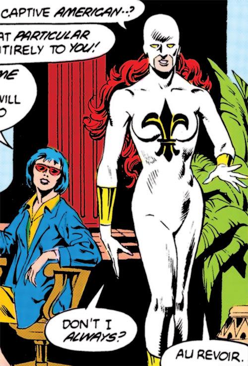 Fleur de Lys (DC Comics) (Global Guardians) early white uniform