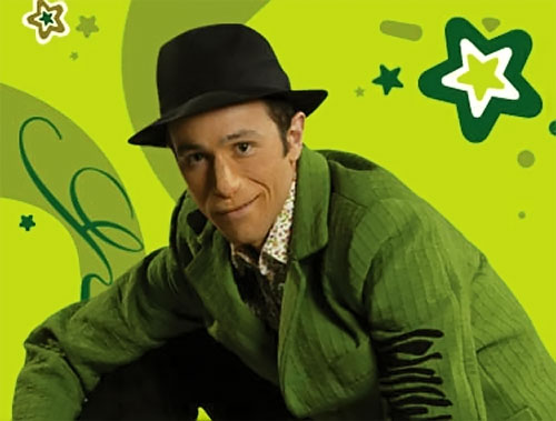 Fluski (Albert Ausell in Club Super-3) with his green suit