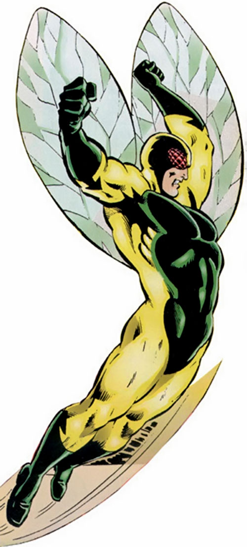 The Fly (Deacon) (Spider-Man enemy) (Marvel Comics) flying