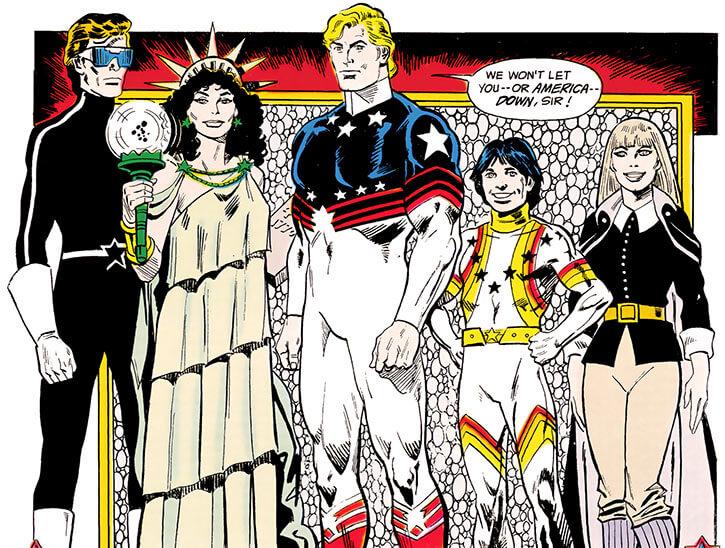 Force of July (DC Comics) (Outsiders enemies) group shot