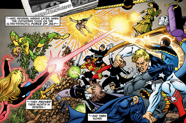 Force of July (DC Comics) (Outsiders enemies) by George Perez