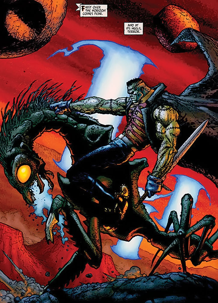 Frankenstein rides a monster on Mars