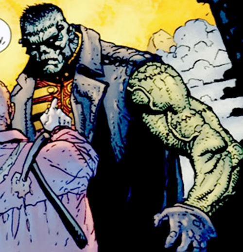 Frankenstein (7 Soldiers) (DC Comics) ready for action