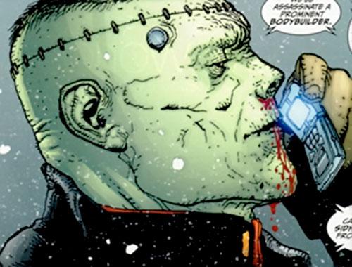 Frankenstein (7 Soldiers) (DC Comics) face closeup side view