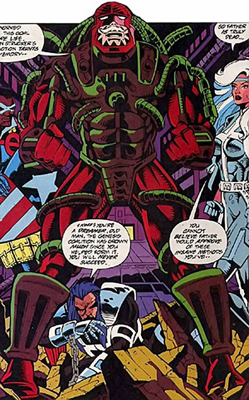 Fritz Sablinova (Silver Sable character) (Marvel Comics) in power armor