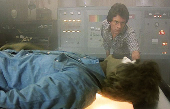 Dell's creature (Dick Durock) and Bruce Banner (Bill Bixby)