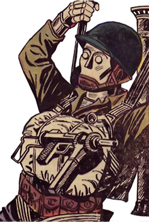 G.I. Robot Joe (DC Comics) parachuting