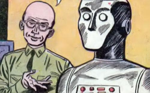 G.I. Robot Joe (DC Comics) and his creator