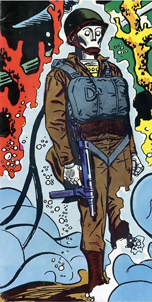 G.I. Robot Joe (DC Comics) underwater