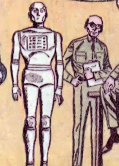 G.I. Robot Joe (DC Comics) without his uniform