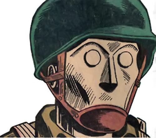 G.I. Robot Joe (DC Comics) face closeup
