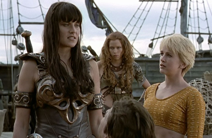 Gabrielle, Amarice and Xena the Warrior Princess