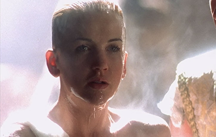 Gabrielle (Renee O'Connor) is all wet