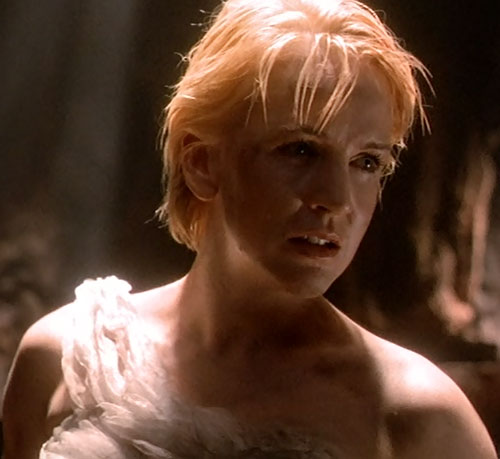Gabrielle (Renee O'Connor in Xena) pained