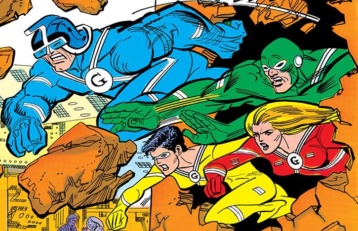 The Gang - DC Comics - Supergirl enemies - Wall bursting