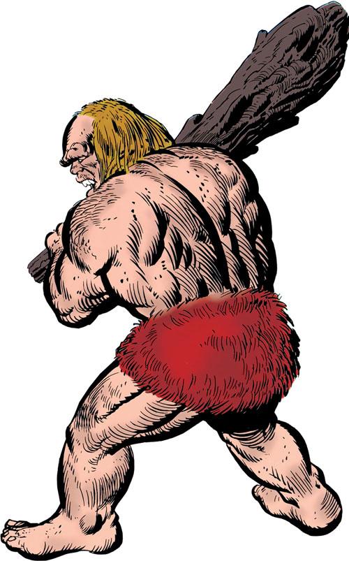 Gargantus (Iron Man enemy) (Marvel Comics) back view from cover