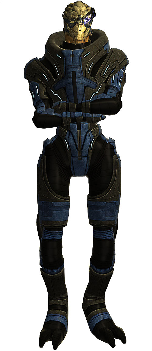Garrus Vakarian in Mass Effect high resolution model arms crossed