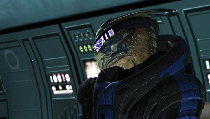 Garrus' head and his visor