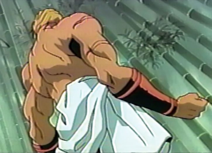 Geese Howard in a bamboo forest