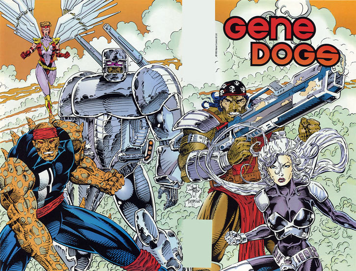 Gene Dogs - STORM - Marvel Comics UK - Group shot from #1 cover