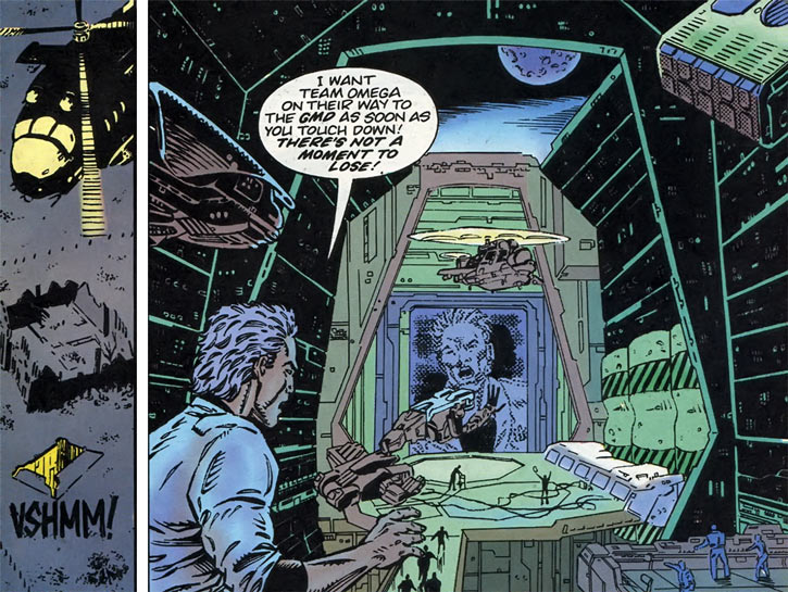 Gene Dogs - STORM - Marvel Comics UK - Base entrance